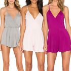 New Women's Adjustable Shoulder Straps Tie Closure Wrap Front Playsuit Romper