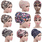 New Women Stretchable Printing Turban Hat Cancer Chemo Hair Loss Cap Head Cover