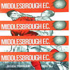 PROGRAMME Middlesbrough Football Club Home Game programmes 1967 1968 - Various