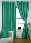 long door curtain - Lushomes Polyester Eyelet Teal Green Solid Door Curtain Drapers-Choose Size