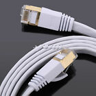 Ultra-Thin RJ45 CAT7 10Gbps Network Ethernet Cable Internet Patch LAN Flat Lot
