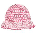 Outlet Absorba Baby Girls' Pink Floral Sun Hat 6-12 12-18 Months New