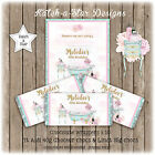 BOUDOIR BATH FRENCH BIRTHDAY PARTY PERSONALISED CHOCOLATE WRAPPERS X 10