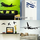Aeroplane Wall Stickers! Transfer Graphic Plane Decal Decor Sticker Art Stencils
