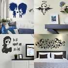 Emo Wall Sticker! Gothic Transfer Graphic Decal Decor Goth Stencils Interior Art
