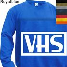 LONG SLEEVE T-SHIRT GRAPHIC TEE VHS - RETRO #03(S to 4X PLUS)
