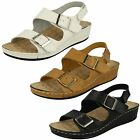 Down To Earth Ladies Casual Buckle Up Sandals