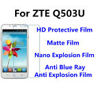 3pcs For ZTE Q503U High Clear/Matte/Anti Blue Ray Screen Protector