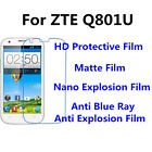 3pcs For ZTE Q801U High Clear/Matte/Anti Blue Ray Screen Protector