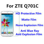 3pcs For ZTE Q701C High Clear/Matte/Anti Blue Ray Screen Protector
