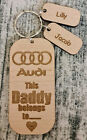 PERSONALISED GIFTS FOR HIM FATHERS DAY GIFT KEYRING DAD DADDY GRANDAD AUDI