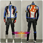 OW Overwatch Soldier 76 Cosplay Costume Jacket Coat Outfit Gloves Adult Custom