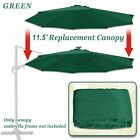 8ft Solar Light Patio Umbrella Tilt Aluminum Sunshade Outdoor Garden Balcony