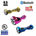 """UL2272 Certified Bluetooth 6.5"""" Two Wheel Self Balancing Hoverboard Chrome Color"""