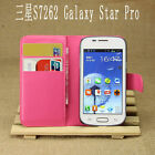 For Samsung Galaxy Star Pro S7262 Flip Card PU Leather Case Stand Wallet Cover