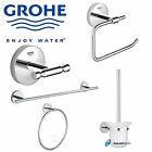 GROHE BATHROOM CHROME ACCESSORIES COLLECTION ROBE HOOK TOWEL RING TOILET BRUSH