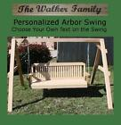 NEW PERSONALIZED SHORT A-FRAME, 5 FOOT SWING W CUSTOM NAME/PHRASE, HANGING ROPE