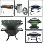 LARGE BBQ GRILL CHIMENEA PORTABLE FIRE PIT  MESH OUTDOOR BARBECUE GARDEN CAMPING