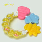 Healthy Safety Silicone Infant Biting Toys Circle Ring Baby Rattle Teether