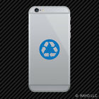 (2x) Recycle Symbol Cell Phone Sticker Mobile Environmental Green many colors