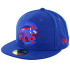 "New Era 5950 ""Logo Popped"" Chicago Cubs Fitted Hat (Royal Blue) Men's Cap"