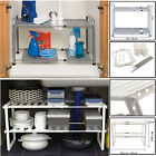 ADJUSTABLE UNDER SINK SHELVES CABINET BATHROOM / KITCHEN ORGANIZER MULTI-PURPOSE