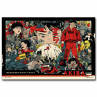 Akira - Red Fighting Anime Poster Silk Canvas Home Wall Art Decoration