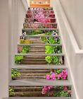 3D Stairs Flowers 6 Stair Risers Decoration Photo Mural Vinyl Decal Wallpaper AU
