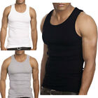 3 to 12 Packs Mens 100% Cotton Tank Top A-Shirt Wife Beater Undershirt Lot image