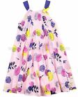 Deux par Deux Girls' Floral Print Sundress Pink Colibri Joli, Sizes 7-12