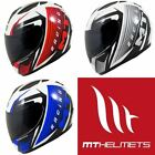 MT Thunder Axe Motorcycle Graphic Crash Lid Motorbike Road Helmet All Colours