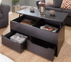 New Ultimate Storage Coffee Table Living Room In Oak, White, Walnut & Espresso
