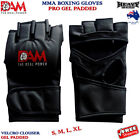 DAM MMA BOXING UFC FIGHT GRAPPLING AUTHENTIC LEATHER GLOVES GEL INTEGRATED