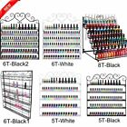 Big Nail Polish Wall Mount Rack stand Metal Organizer Display 180+ Bottles LOT