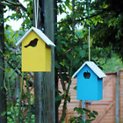 Small Wood Nesting Box Robin Tit Sparrow...