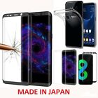 Samsung Galaxy S8,TPU Case Cover+Tempered Glass 3D Protector BLACK