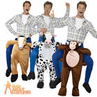 Adult Piggyback Monkey Cow and Horse Fancy Dress Step In Costume Stag Outfit