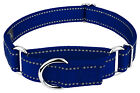 Country Brook Design® Royal Blue Reflective Nylon Martingale Dog Collar