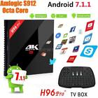 H96PRO+ Android 7.1 TV Box S912 Octa Core 64Bit 2G/3G 16G 4K Dual WiFi Bluetooth