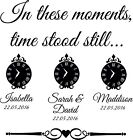 In these moments time stood still vinyl decal wall art with clocks & scroll bar