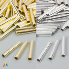 10 x PLAIN ROUND TUBE 25x4mm BEADS SPACER FINDINGS JEWELLERY MAKING