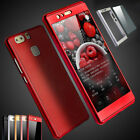 360° Full Hybrid Hard Cover Case + Tempered Glass For Huawei P9 / P9 Lite / Plus