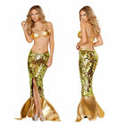 Green Mermaid Fancy Dresses Cosplay Women Halloween Costume Party Dress