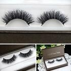 100% Real 3D Mink Makeup Cross False Eyelashes Eye Lashes Extension Handmade Hot