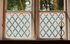 Etched Glass Window Film FROSTED EFFECT morrocan trellis traditional modern