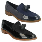 LADIES CLARKS LEATHER SLIP ON TASSEL FRONT LOAFER FLAT SHOES TAYLOR SPRING