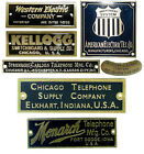 Telephone company Nameplate, Western Electric, Kellogg, Stromberg Carlson, more