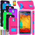 samsung note 2 3 - For Samsung Galaxy Note 2 3 4 Shockproof Hybrid Hard Durable Dual Cover Case