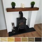 MANTEL SHELF FLOATING SHELVES 8X4 BEAM RECLAIMED RUSTIC SOLID WOODEN PINE