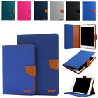 Canvas Smart Magnetic Stand Case Cover & Auto Sleep Wake for iPad 2017 9.7 inch